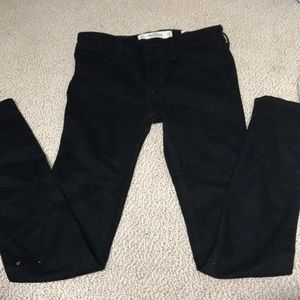 black low rise jeans from hollister